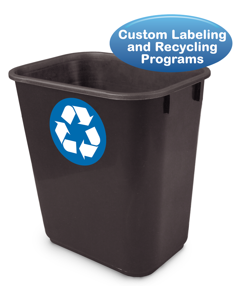 14 Qt. Recycle Systems Office Wastebasket